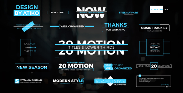 Titles and LowerThirds (Videohive After Effects Templates)
