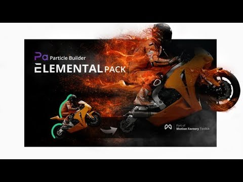 Particle Builder | Elemental Pack: Fire Sand Smoke Sparkle Particular Presets (After Effects)
