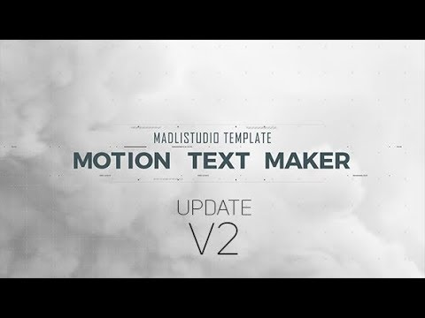 Motion Text Maker (Videohive After Effects Templates)