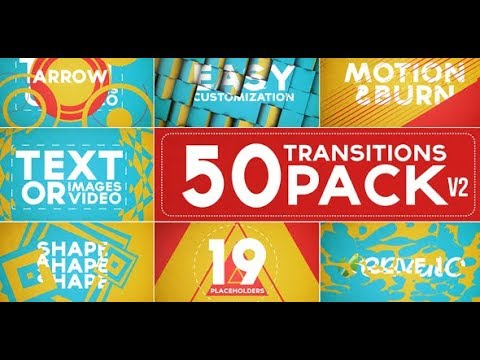 50 Transitions Pack with Opener (Videohive After Effects Templates)