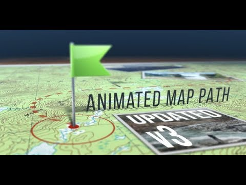 Animated Map Path v.3 (Videohive After Effects Templates)