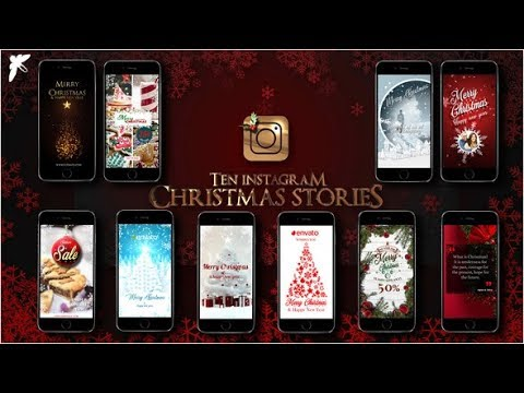 10 Instagram Christmas Stories (Videohive After Effects Templates)