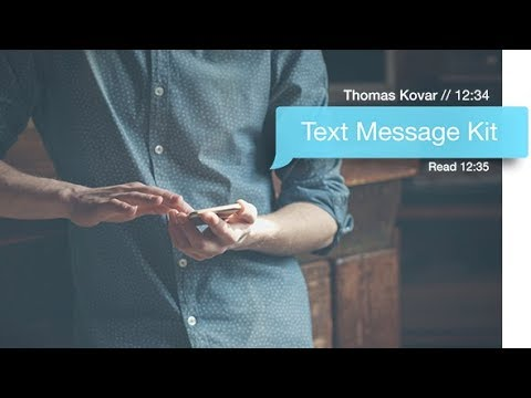 Text Message Kit (Videohive After Effects Templates)