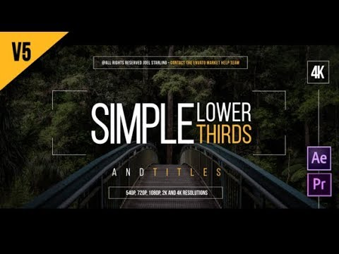 Lower Thirds (Videohive After Effects Templates)