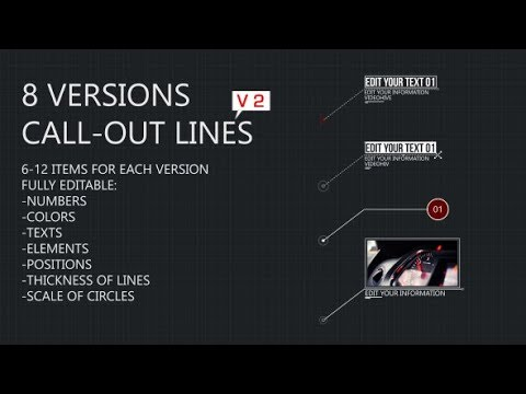 8 Line Call-Outs (Videohive After Effects Templates)