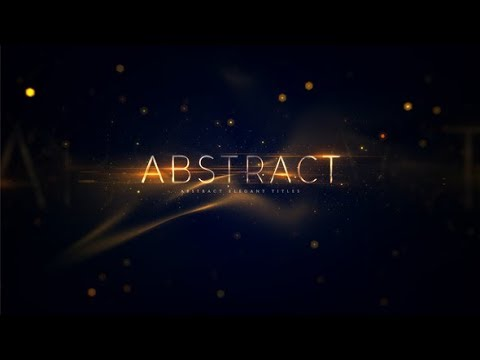 Abstract Elegant Titles (Videohive After Effects Templates)