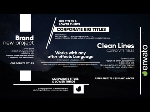 Clean Lines – Big Titles (Videohive After Effects Templates)