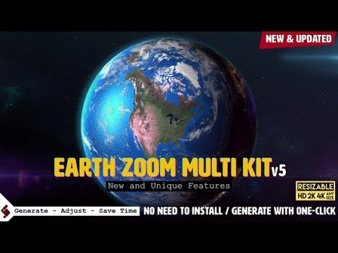 Earth Zoom Multi Kit (Videohive After Effects Templates)