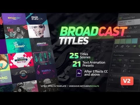 TypeX – Text Animation Tool. Broadcast Pack Modern Colorful Typography Titles (Videohive Ae)