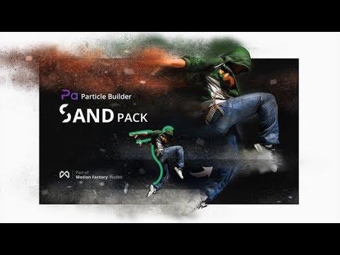 Particle Builder. Sand Pack: Dust Sand Storm Disintegration Effect Vfx Generator (After Effects)