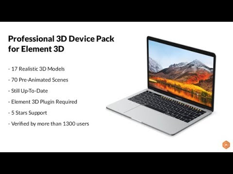 Professional 3D Device Pack for Element 3D (Videohive After Effects Templates)