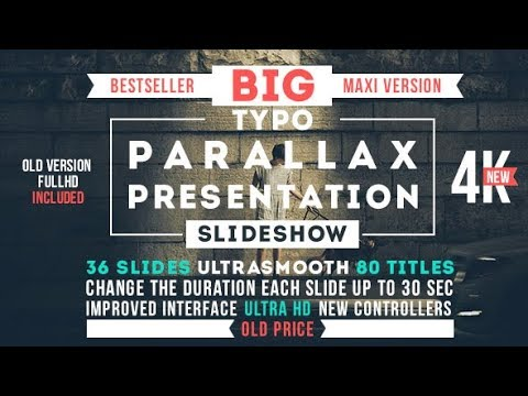 Big Typo Parallax Presentation (Videohive After Effects Templates)