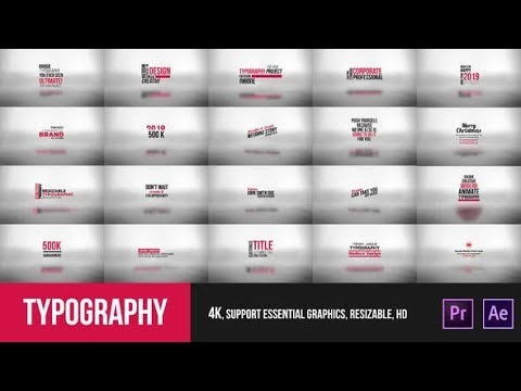 Typography Essential – Mogrt (Videohive Premiere Pro Templates)