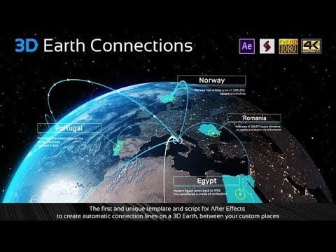 3D Earth Connections (Videohive After Effects Templates)