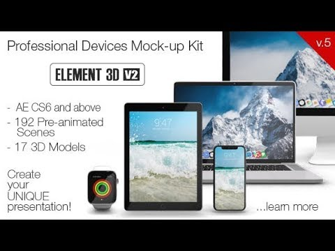 Devices Mock-up Kit (Videohive After Effects Templates)