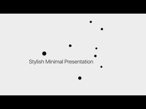 Stylish Minimal Presentation (Videohive After Effects Templates)