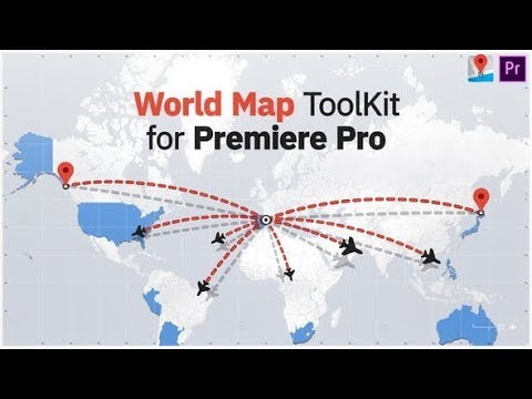 World Map ToolKit for Premiere Pro (Videohive Premiere Pro Templates)