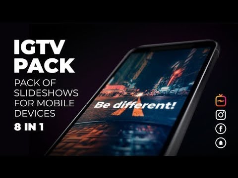 IGTV Slideshow Pack | Instagram, Facebook, Snapchat | TV, Post, Stories (Videohive After Effects)